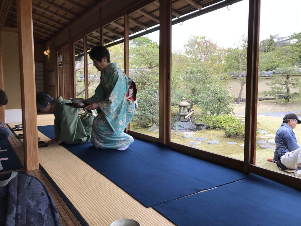Lovely Japanese lady hosting the ceremony