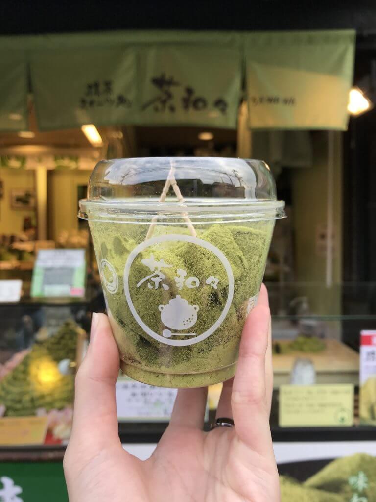 Matcha warabi mochi