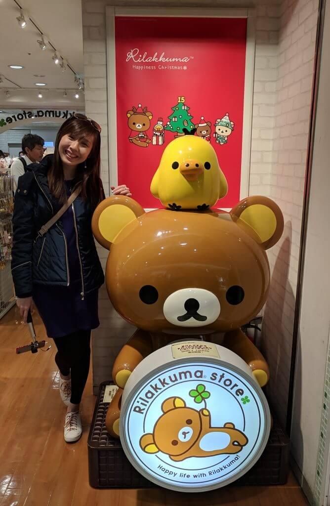 Rilakkuma store at Tokyo Station