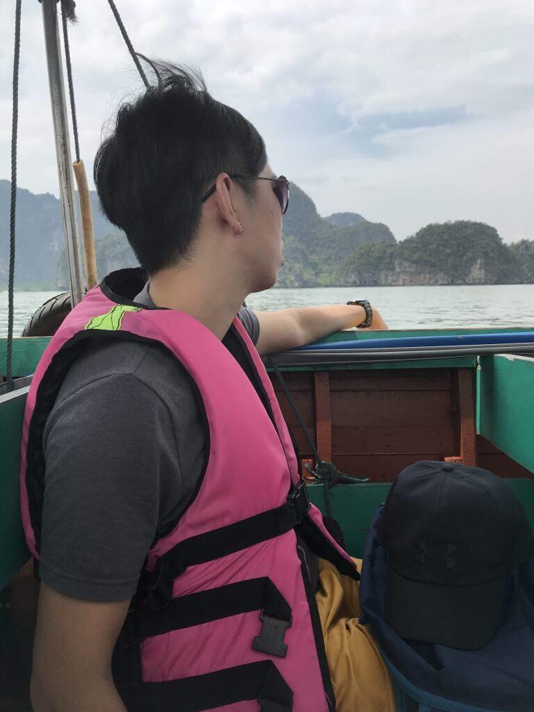 Liangliang on boat