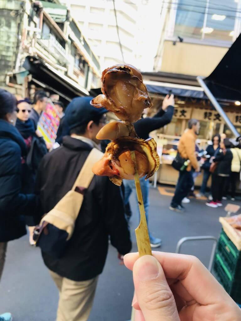 Hotate at Tsukiji Market