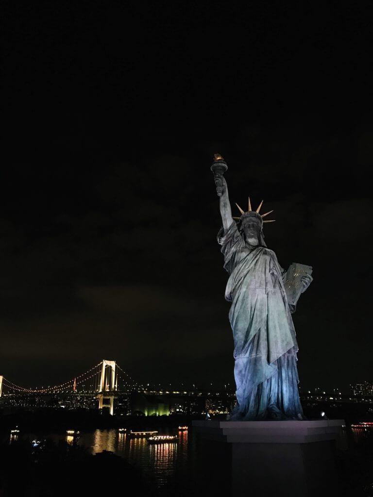 Liberty of Statue at Odaiba
