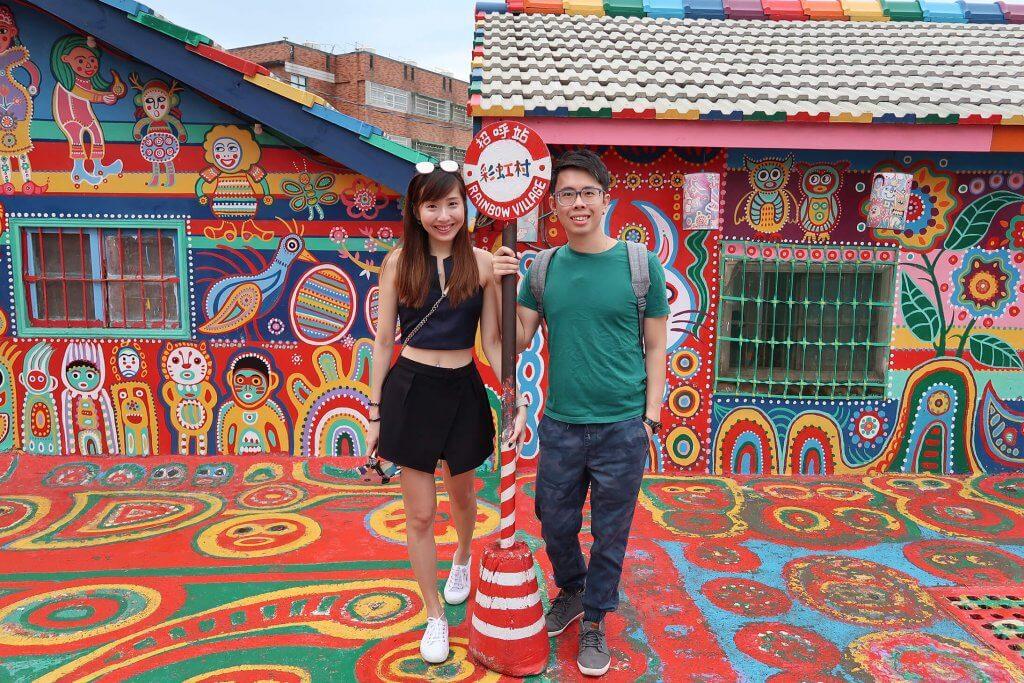 Minmin and Liangliang at Rainbow Village