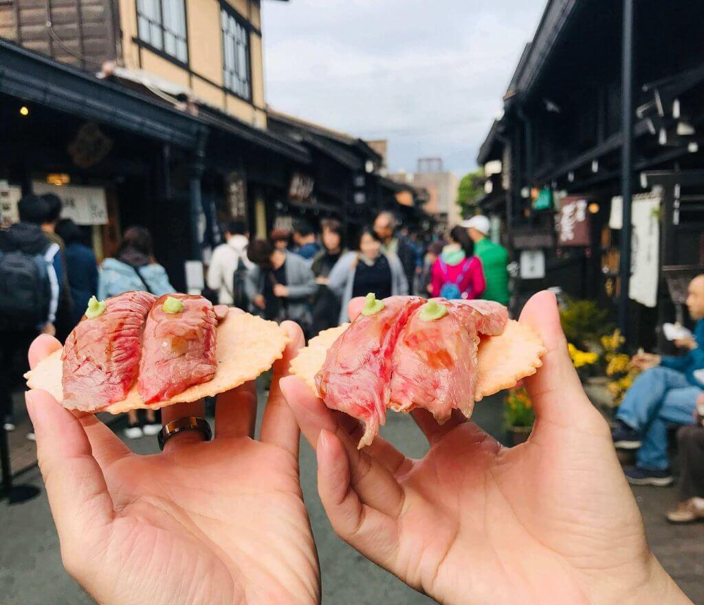 Hida beef at Takayama