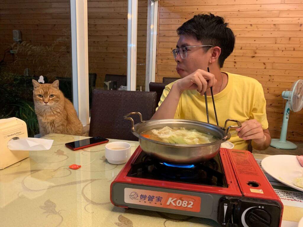 Dinner at Julie's Garden Fon Chin Homestay