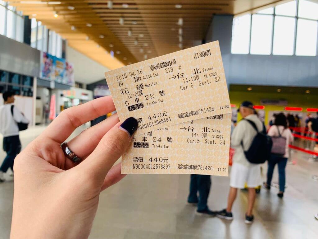 Hualien to Taipei train tickets