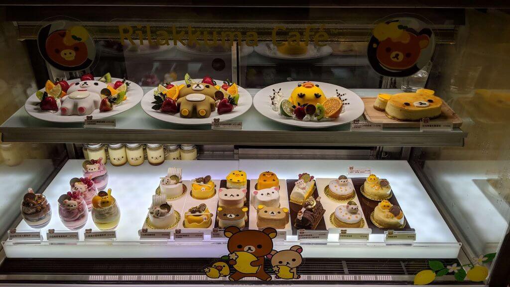 Cakes at Rilakkuma Café Taipei