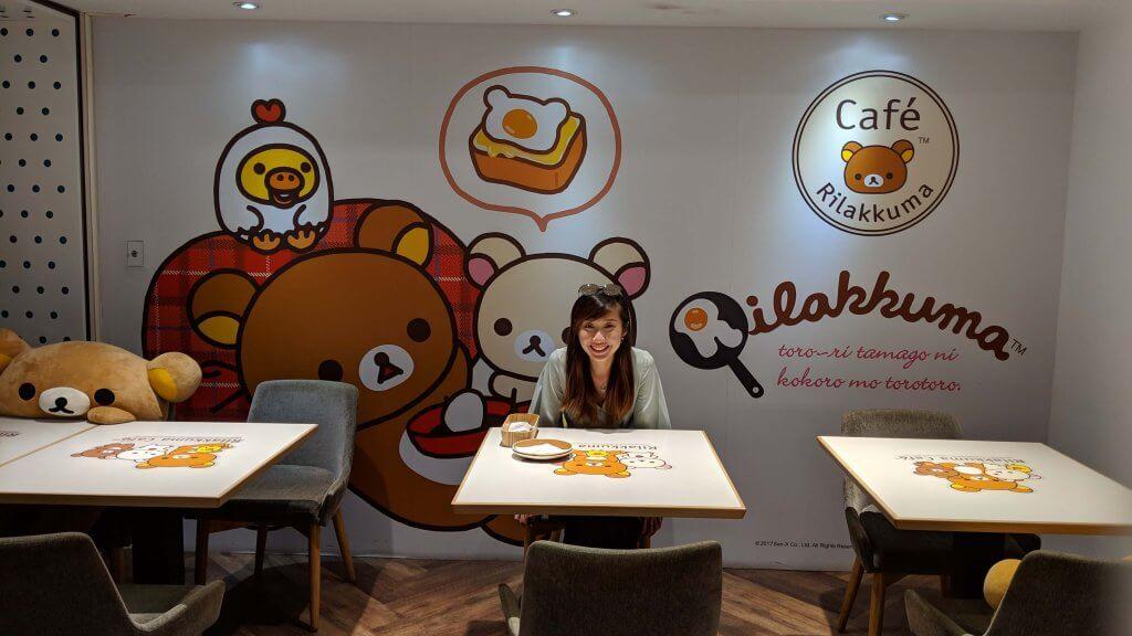 Minmin at Rilakkuma Café Taipei